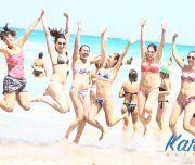 Fiesta de despedida en las playas de Alicante