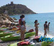 Momentos antes de iniciar la excursión en kayak