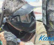 Partida de paintball en despedida