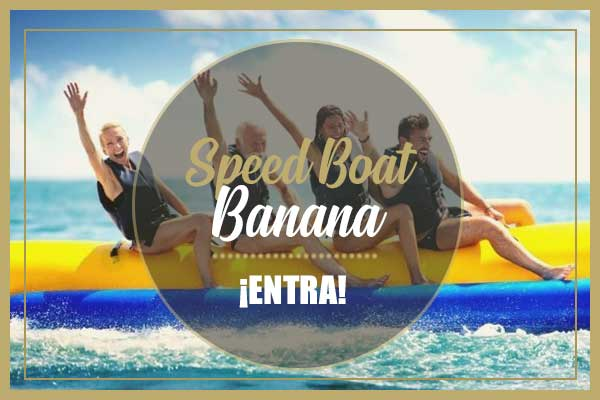 paseo en banana de agua para despedidas